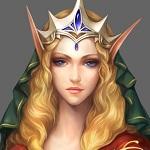 Аватар Голубоглазая эльфийская принцесса в короне