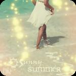 Аватар Девушка идет босиком по песчаному пляжу омываемому морскими волнами (Sunny summer)