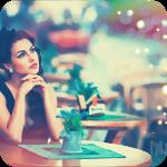Аватар Девушка за столиком летнего открытого кафе