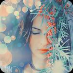 Аватар Девушка с закрытыми глазами около куста с оранжевыми ягодами облепихи