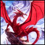 Аватар Дракон сидит на вершине скалы