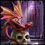Аватар Дракон сидит на черепе