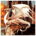 Аватар Дракон лежит на скале