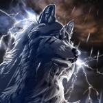 Аватар Грустный волк под дождем