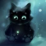Аватар Черный котенок под водой