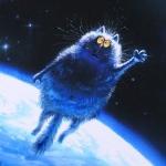 Аватар Прикольный кот в космосе