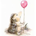 Аватар Маленький ежик с шариком в лапках