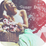 Аватар Смеющаяся девушка с корзиной цветов (sunny days / солнечные дни)