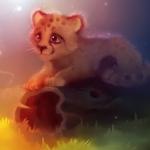 Аватар Детеныш леопарда на бревне, by Apofiss