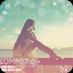 Аватар Девушка сидит на морском причале, глядя на море (summer / лето)