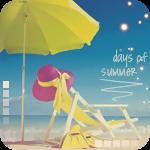 99px.ru аватар Соломенная шляпа на пляжном шезлонге под желтым зонтом на фоне моря (days of summer / летние дни)