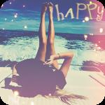 Аватар Девушка лежит на борту катера, подняв вверх ноги, на фоне моря
