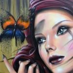 Аватар Девушка смотрит на бабочку, by Joseph Boin