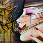 Аватар Девушка с бабочками, by Joseph Boin