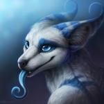 Аватар Фентези щенок с длинным голубым языком