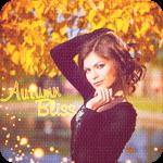 Аватар Девушка на фоне осеннего пруда и деревьев с желтой листвой (Autumn bliss / Осеннее блаженство)
