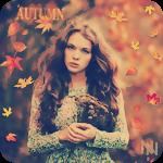 Аватар Красивая девушка с длинными волосами держит в руках ветку засохших осенних цветов (Autumn / Осень)