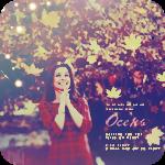 Аватар Девушка на фоне деревьев с осенней листвой
