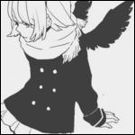 Аватар Девушка с черными крыльями