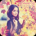 Аватар Красивая девушка среди яркой осенней листвы (Lovely leaves / Прекрасные листья)