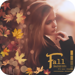 Аватар Девушка на фоне разноцветных осенних листьев (Fall / Осень)