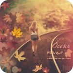 Аватар Девушка идет по железнодорожным путям, среди осеннего леса (Осень)