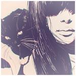 99px.ru аватар Девушка и кошка, художник Илья Кувшинов