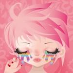 Аватар Девочка с разноцветными слезами