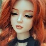 Аватар Кукольное личико с рыжими волосами