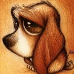 Аватар Грустная собака с большими ушами, художник под ником Fabo