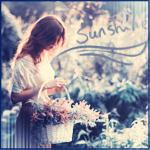 Аватар Девушка с корзиной цветов в саду