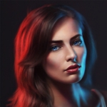 Аватар Портрет голубоглазой шатенки