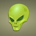 Аватар Зеленая голова улыбающегося пришельца