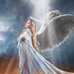 Аватар Ангельская дева с нимбом