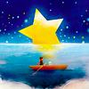 Аватар Девочка и щенок в лодке