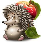 Аватар Маленький ежик с яблоком на спине