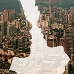Аватар Влюбленная пара на фоне города
