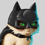 Аватар Сердитый кот в костюме Бэтмена