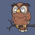 Аватар Грустная сова сидит на ветке