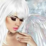 Аватар Белоснежный ангел с крылом