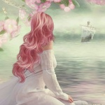 Аватар Девушка смотрит на корабль
