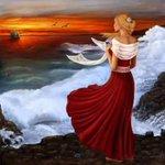 Аватар Девушка смотрит вдаль на корабль, by FreyjaSig