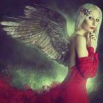 Аватар Девушка - ангел держит руки у лица, by ObscureLilium