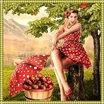 Аватар Девушка с яблоками, художник Alia Chekanoff