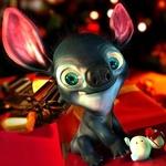 Аватар Инопланетянин Стич сидит с игрушками, герой из мультфильма Лило и Стич / Lilo and Stitch