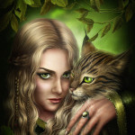 Аватар Девушка блондинка обнимает кота