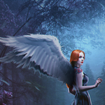 Аватар Ангел с яркими крыльями