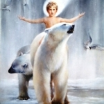 Аватар Мальчик на белом медведе