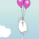 Аватар Кот висит на воздушных шариках