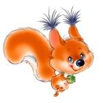 Аватар Веселая белочка с орешком в лапках